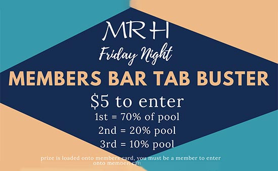 Members Bar Tab Buster
