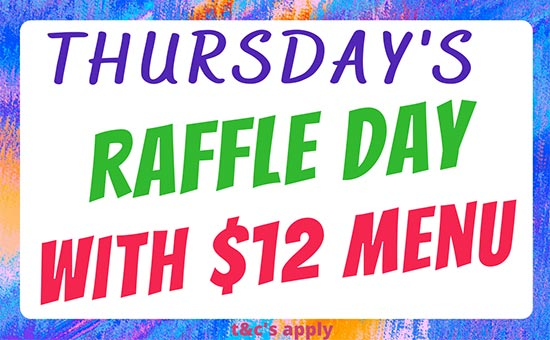 Thursday Raffle Day